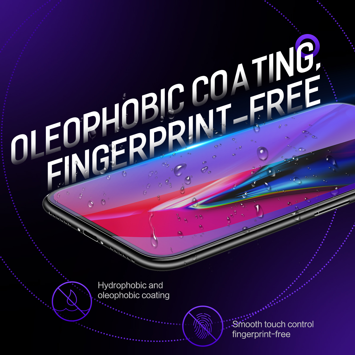 How our tempered glass screen protector Oleophobic coating better than our competitors?