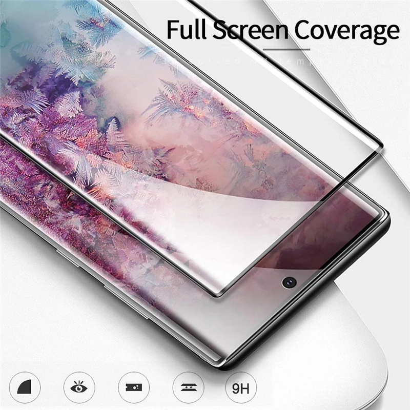 Case friendly 3D curved Full coverage HD clear tempered Glass Screen Protector for Samsung Galaxy Note10