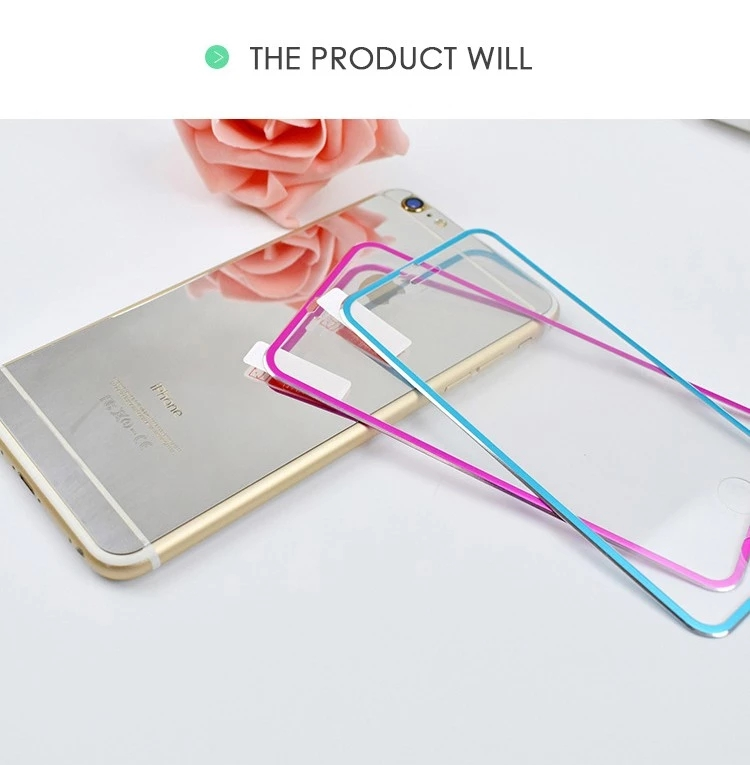 Titanium Alloy Metal Frame Tempered glass Screen Protector For Iphone X 6 6s 7 8 Plus 10 11 12 pro Max